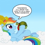comic crown goggles madmax pet rainbow_dash scarf tank turtle