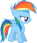 baunily filly highres rainbow_dash transparent vector