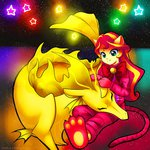 adagio_dazzle cat costume equestria_girls highres humanized jack-a-lynn siren sunset_shimmer