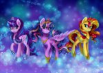 alicorn frostykat13 princess_twilight starlight_glimmer sunset_shimmer twilight_sparkle