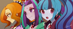 adagio_dazzle akuama anime anime_as_fuck aria_blaze equestria_girls humanized sonata_dusk the_dazzlings
