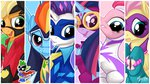 applejack fillisecond fluttershy highres humdrum main_six masked_matterhorn mistress_marevelous mysticalpha pinkie_pie power_ponies radiance rainbow_dash rarity saddle_rager spike twilight_sparkle zapp