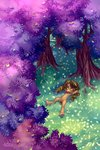 flowers grass highres holivi original_character trees zap_apples