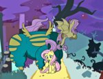 costume cruxtar flutterbat fluttershy highres power_ponies saddle_rager