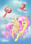 bird eternalsubscriber fluttershy flying highres