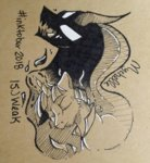 mychelle pony_of_shadows stygian traditional_art