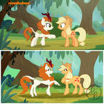 applejack autumn_blaze bydaliapamela kirin screencap_redraw