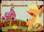 applejack apples highres poster propaganda puzzle-of-life sweet_apple_acres weapon