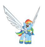 raidho36 rainbow_dash robot transparent