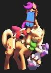 :gonk: apple_bloom applejack cutie_mark_crusaders irongasm scarf scootaloo scooter sweetie_belle