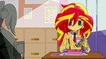 anime anime_as_fuck chopsticks equestria_girls huge_hair humanized kiddysa-nekovamp school_uniform sunset_shimmer watamote