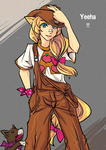 applejack bakki horse_ears humanized tail winona