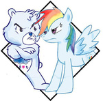 care_bears crossover dark-tsubaki88 grumpy_bear rainbow_dash