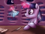 beaker highres inkblu magic quill science twilight_sparkle