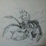 bipedal costume discommunicator league_of_legends scootaloo sketch talon