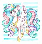 princess_celestia traditional_art twixyamber