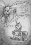 grayscale magic princess_cadance queen_chrysalis raindh