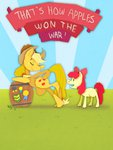 apple_bloom applejack barrel friendship_is_witchcraft medals stevetwisp