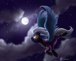 bobsponychickens flying highres moon night_glider nighttime shadowbolts