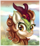 absurdres autumn_blaze highres ilynalta kirin traditional_art