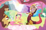 angel bear cup discord flower_crown fluttershy harry hollulu picnic tea_party
