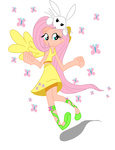 dress fluttershy humanized rockingquix