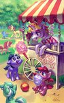 ball colt daisy filly highres holivi lyra_heartstrings magic original_character rose trees
