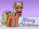 applejack_(g1) fluttershy626 g1 present snow snowing winter