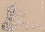 absurdres flutterstormreturns highres princess_luna traditional_art