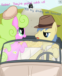 background_ponies bonnie_and_clyde car colton_vines comic crossover daisy hat txlegionnaire