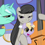 cello dinky_hooves instrument kloudmutt lyra_heartstrings lyre octavia_melody smug