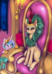 absurdres darksly-z highres princess_celestia rain_shine throne