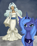 allymoodyneko avatar:_the_last_airbender crossover highres moon princess_luna yue