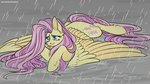 fluttershy highres mechanicalanakal rain tears