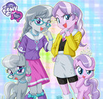 diamond_tiara earring equestria_girls humanized silver_spoon species_confusion uotapo