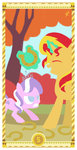 diamond_tiara highres horseshoe huge_jerk janeesper sunset_shimmer tarot