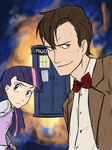 crossover doctor_who humanized tardis the_doctor thelivingmachine02 twilight_sparkle