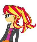 baekgup equestria_girls glasses humanized lowres ponytail sunset_shimmer