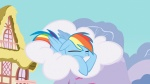 cloud highres ponyville rainbow_dash shelltoontv slacking_is_magic sleeping vector wallpaper