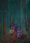 forest highres lantern satynapaper spike traditional_art twilight_sparkle