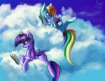book cloud foughtdragon01 highres princess_twilight rainbow_dash twilight_sparkle