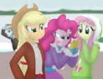 applejack equestria_girls faith-wolff fluttershy humanized pinkie_pie rainbow_dash