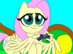 :gonk: animated fluttershy i_shall_not_use_my_wings_as_hands lowres tyrranux video_game