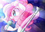 highres joyfulinsanity microphone pinkie_pie singing