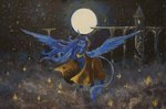 absurdres dalagar highres moon nighttime princess_luna traditional_art