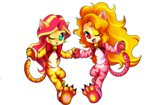 absurdres adagio_dazzle cat costume equestria_girls highres humanized jack-a-lynn sunset_shimmer