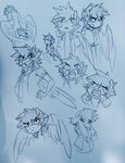 alternate_universe anthro glacierclear highres scootaloo sketch ultimare_universe