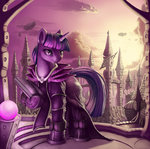 absurdres book highres robe sceathlet twilight_sparkle