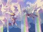bag cloud derpy_hooves fleetfoot flying freeedon highres letter