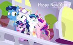 cider dm29 kiss magic new_year's parents princess_cadance princess_twilight shining_armor twilight's_dad twilight_sparkle twilight_velvet young